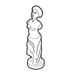 Statue icon in outline style vector image