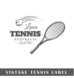 tennis label vector image