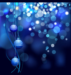 christmas defocus lights background with balls vector image vector image
