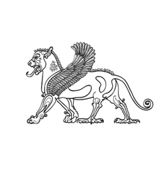 Coloring book stylized drawing of the Gryphon vector image vector image