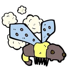 comic cartoon bee vector image vector image