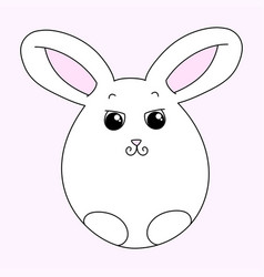 cute white easter bunny vector image