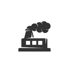 Factory icon isolated on a white background vector image vector image
