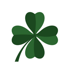 green four leaf clover icon flat style vector image