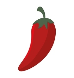 cartoon red chili pepper mexican design isolated vector image