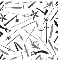 cold steel weapons grayscale pattern eps10 vector image vector image