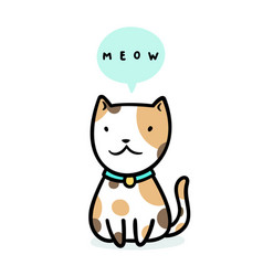 cute kitty sitting vector image
