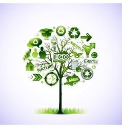 ecological idea tree vector image vector image