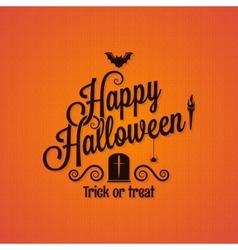 halloween vintage lettering ornate background vector image vector image