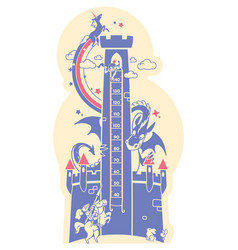 height charts fairytale castle meter wall or vector image