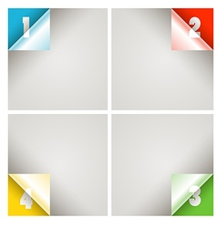 Infographic modern color scheme template vector image vector image