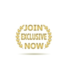 Join exclusive now vector image