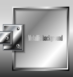Metal plate background vector image vector image