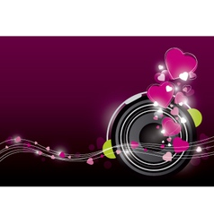 Music background design vector image vector image