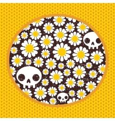 Nature skulls vector image