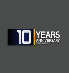 10 years anniversary logotype with blue vector