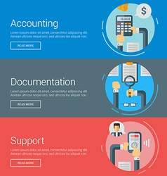 Accounting Documentation Support Flat Design vector image