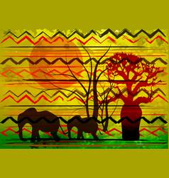 african print fabric ethnic savannah safari batik vector image