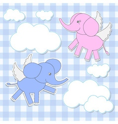 babies-elephants angels vector image