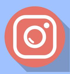 badge camera camera flash vector image