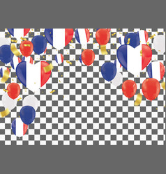 balloons with countries flags of national france vector image