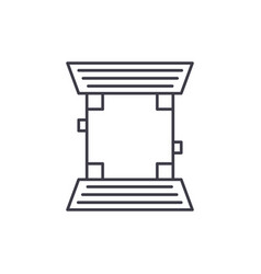 baseball field line icon concept baseball field vector image