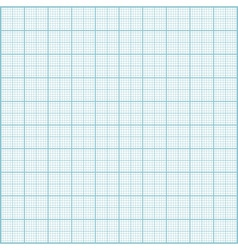 Blue millimeter paper background Square grid backg vector