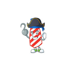 Calm one hand pirate usa stripes tie wearing hat vector