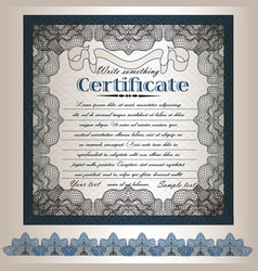 certificate or gift coupon design in retro style vector image