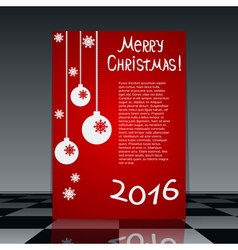 Christmas and New Year flyer template vector image