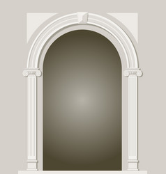 classic antique arch vector image