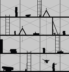 construction place art on grey vector image