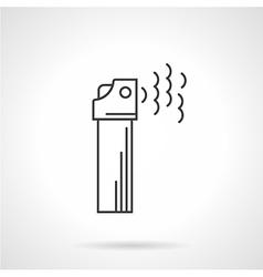 Contour icon for gas spray vector