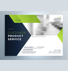 Creative green modern brochure flyer template vector