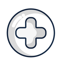 Cross clinic symbol to healthcare people vector