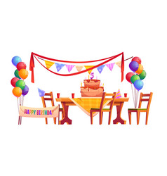 decoration for birthday party outside vector image