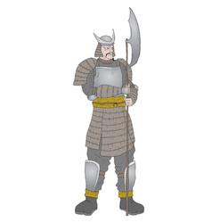 elegant samurai vector image
