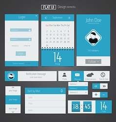 Flat web design elements 5 vector