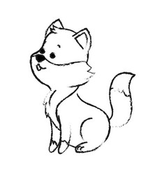Fox cute animal cartoon icon image vector