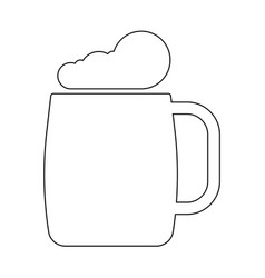 glass of beer the black color icon vector image
