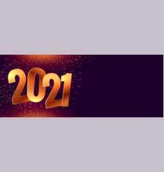 Golden new year 2021 sparkle on black background vector