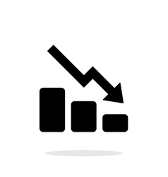 Graph down icon on white background vector image
