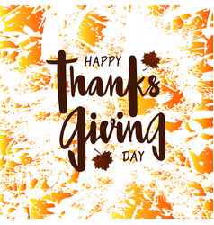 Happy thanksgiving day for poster postcard vector