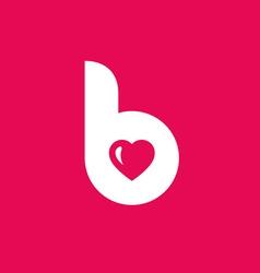 Letter B heart logo icon design template elements vector