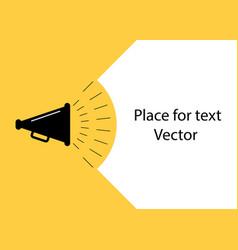loudspeaker poster for advertising ads vector image