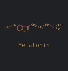 melatonin hormone molecule in humans it plays a vector image