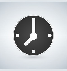 minimalistic black clock icon mechanical watch vector image