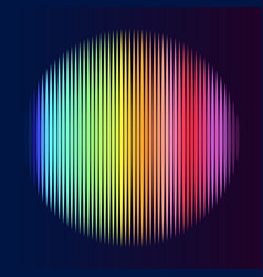 multicolor lines in circle shape vector image