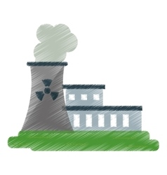 nuclear power station energy pollution ed vector image