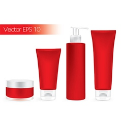 Packaging containers red color vector image
